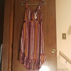 Size XL. Eyeshadow Gauze Striped Sundress